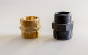 Fitting Kunststoff und Messing mit Gewinde