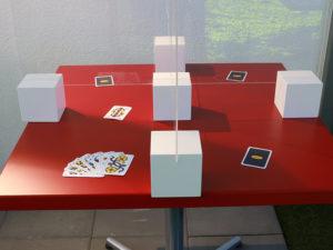 Tisch-Spuckschutz für Jassrunden